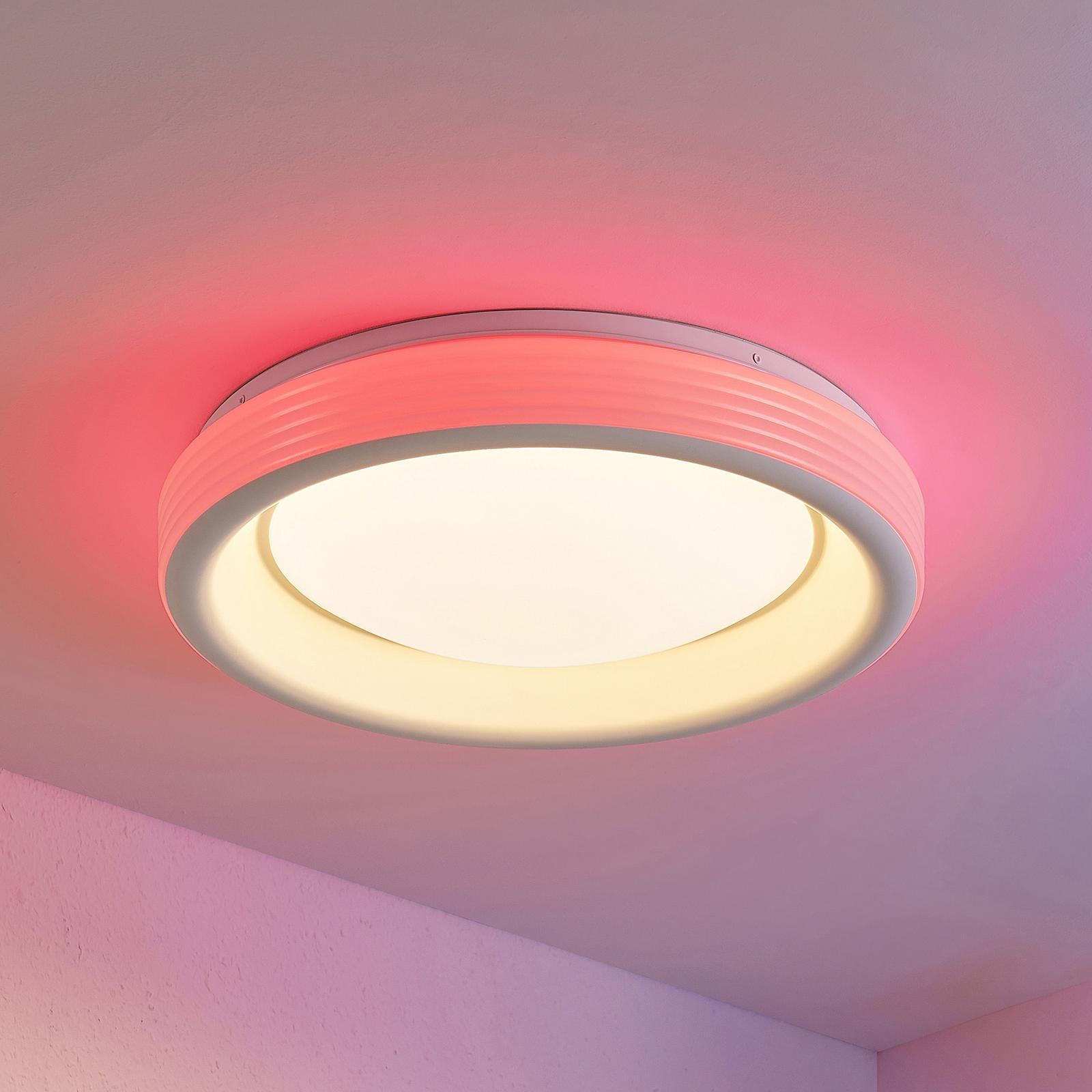 Lindby Inarum LED-taklampe, RGB, CCT, dimbar