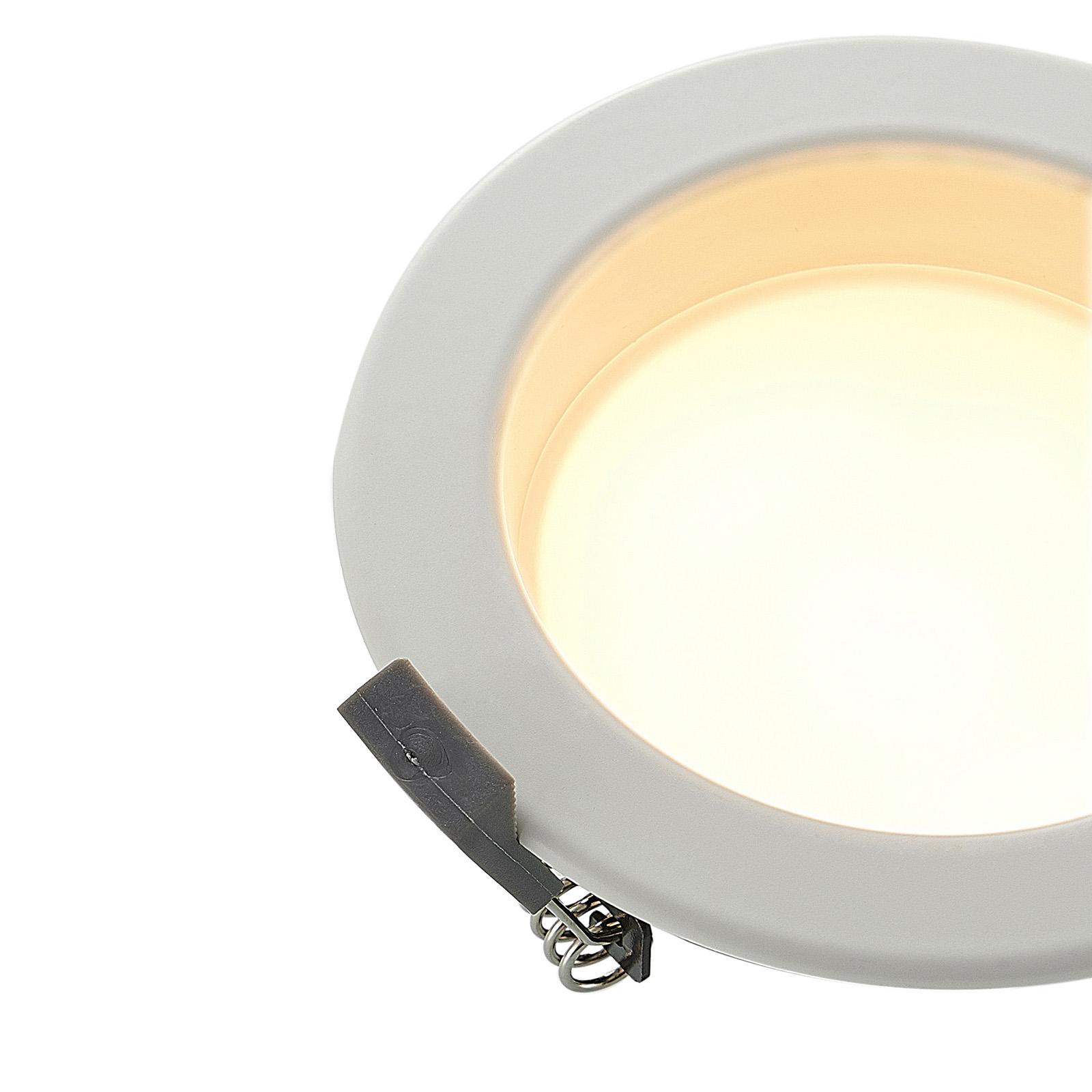 Lampe encastrable LED Piet de forme ronde, 8,5 W
