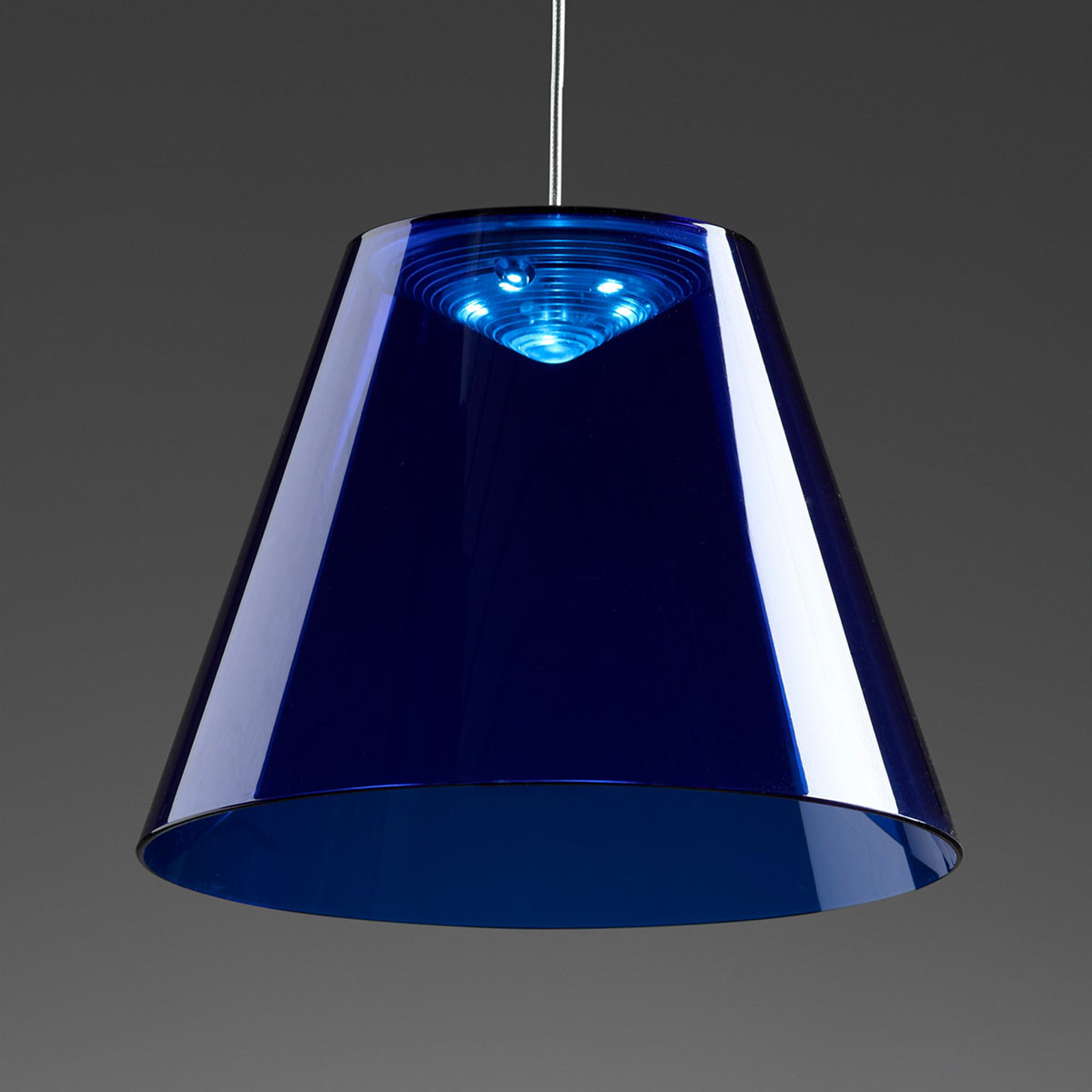 Rotaliana Dina - blaue LED-Hängeleuchte