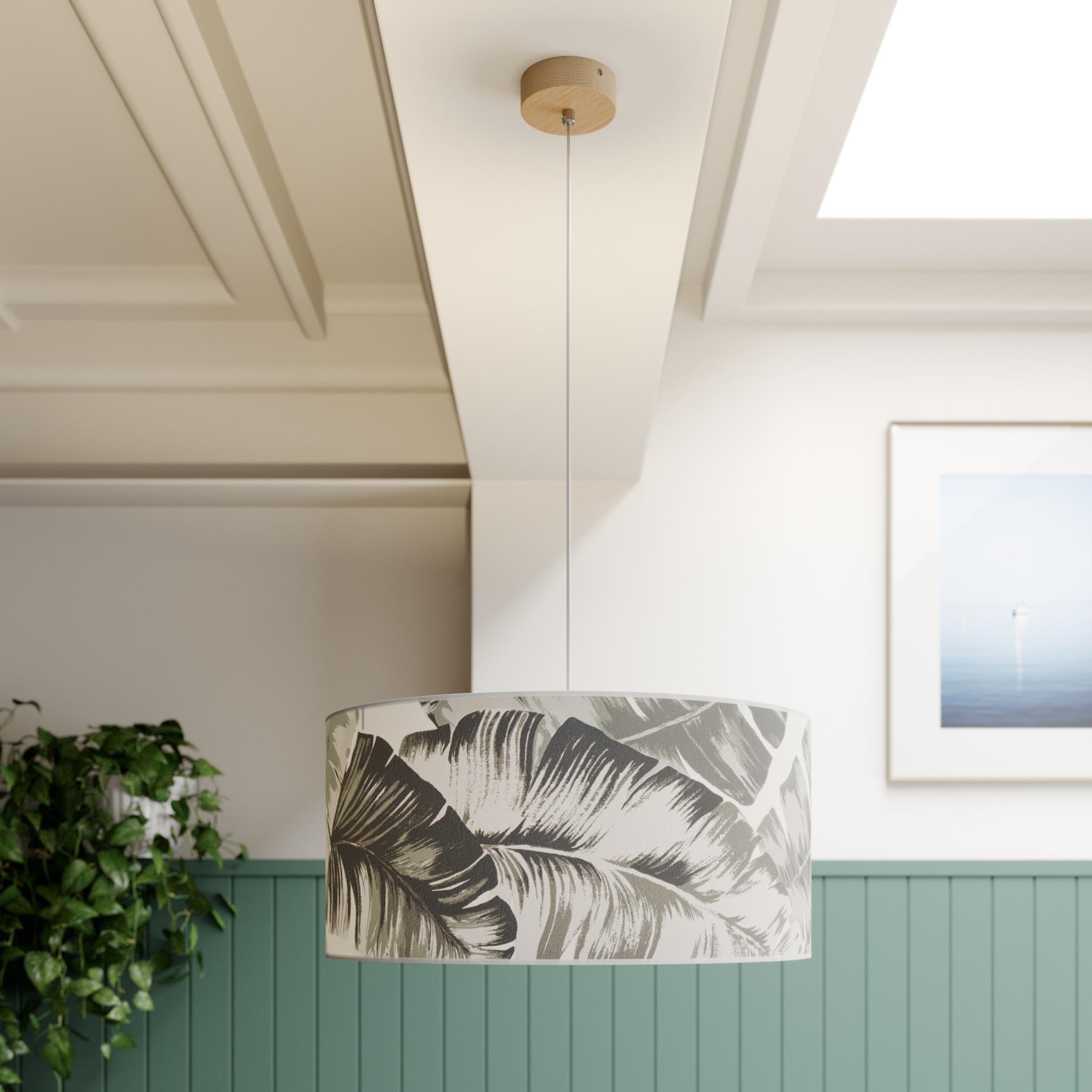 Hanglamp Madera, kap rond Ø 50 cm
