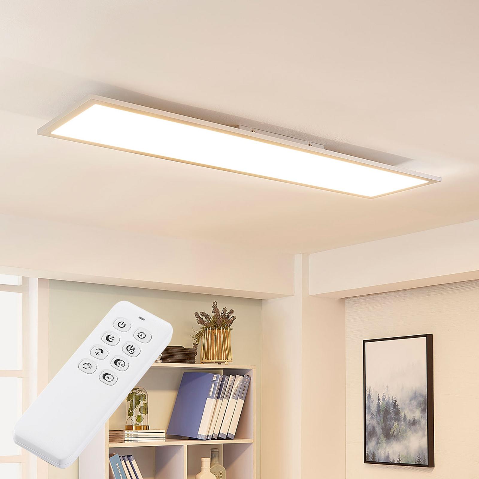 Arcchio Lysander LED-panel, CCT 119cm 58W, sølv