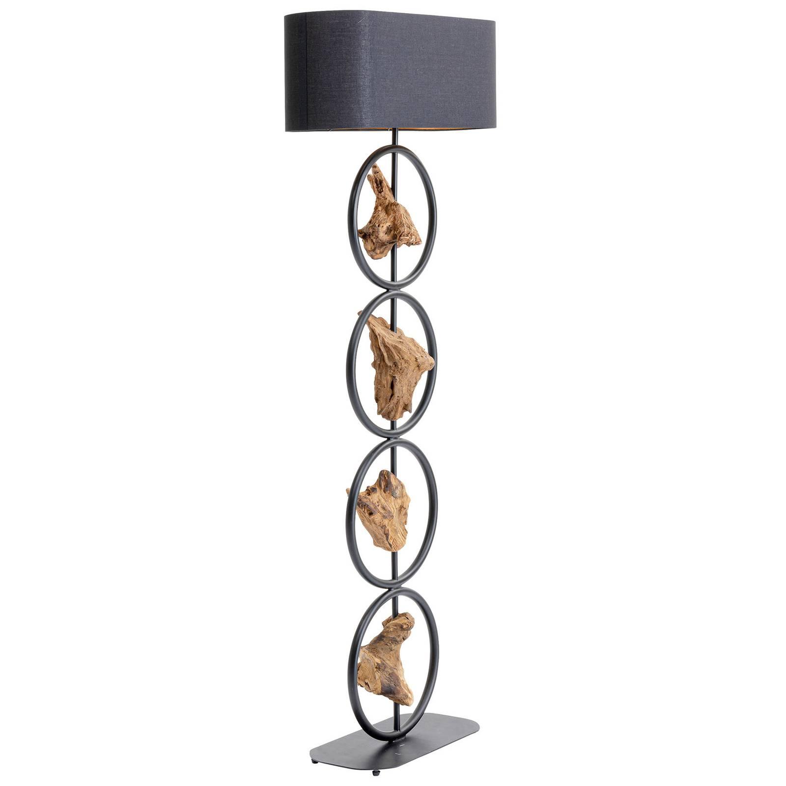 KARE Nature Circles lampadaire avec éléments bois