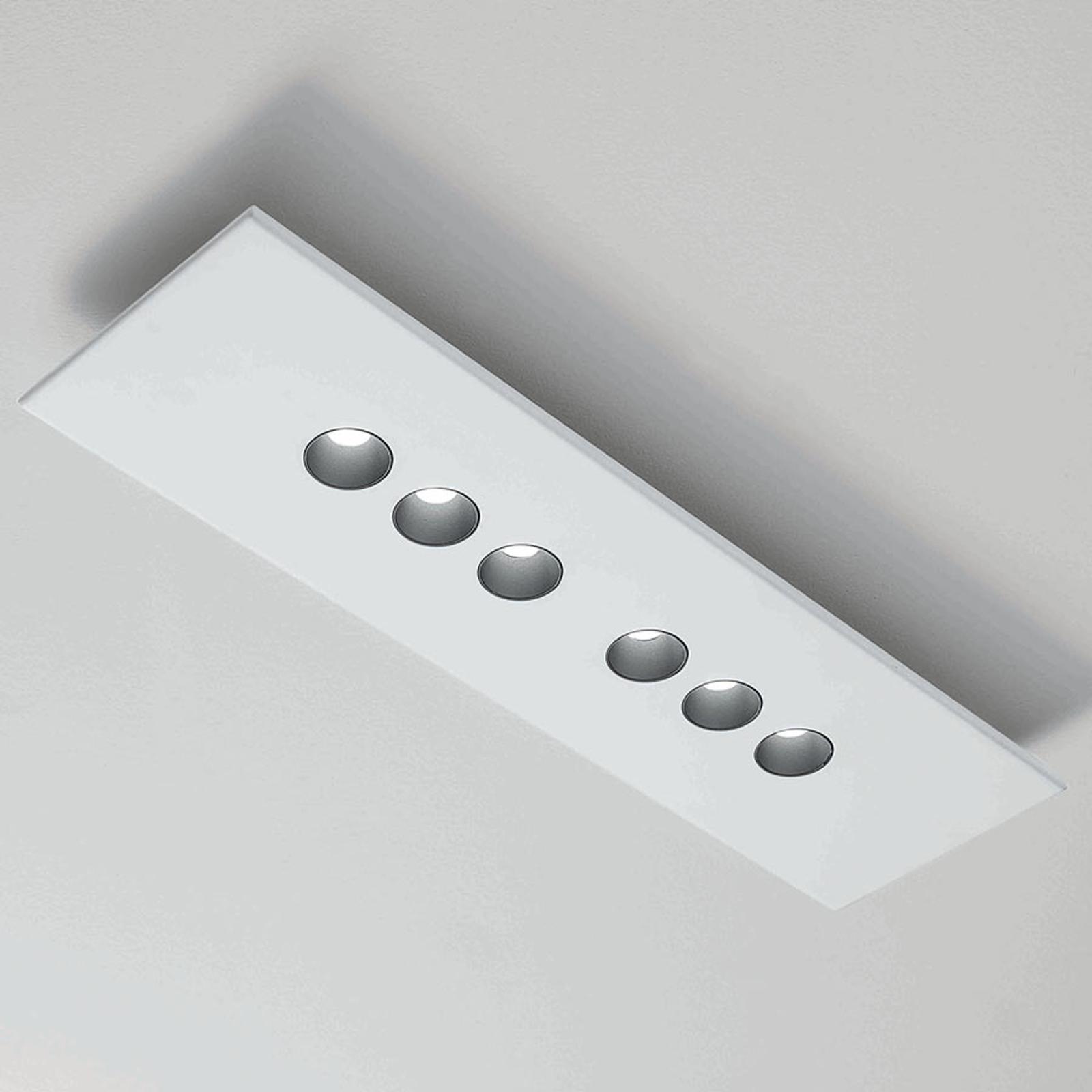 ICONE Confort LED-Deckenleuchte, rechteckig, weiß