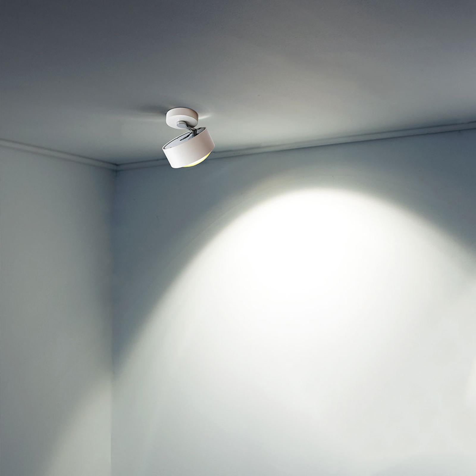 Lampa sufitowa LED Puk Maxx Move, biała chromowa