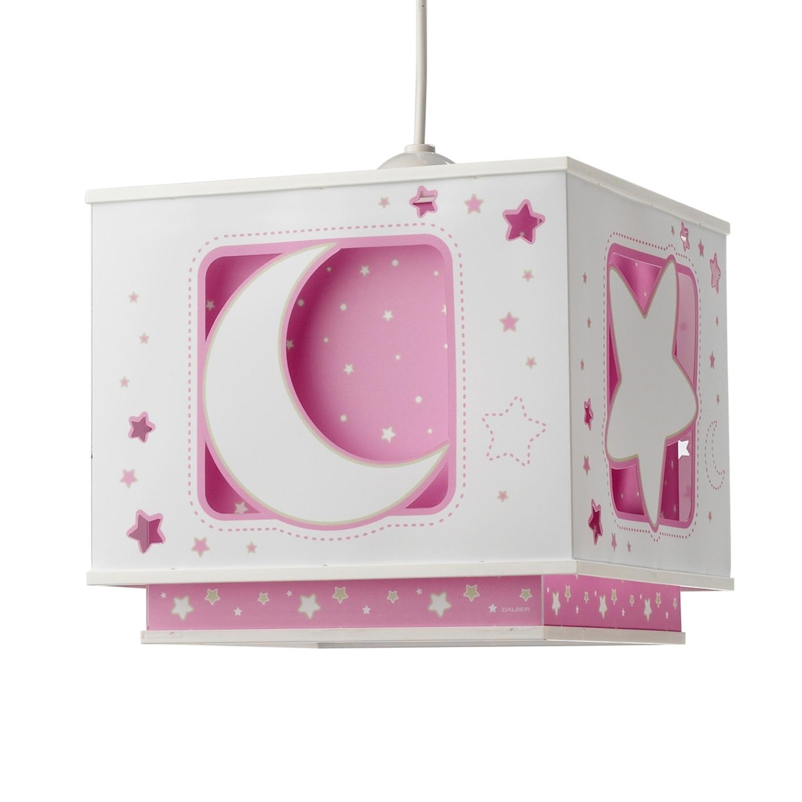 Fluorescerende hanglamp NACHTHIMMEL, roze