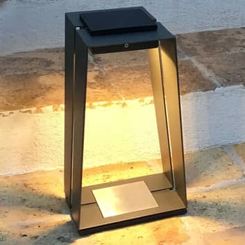 LED-solcellslykta Skaal av aluminium med sensor