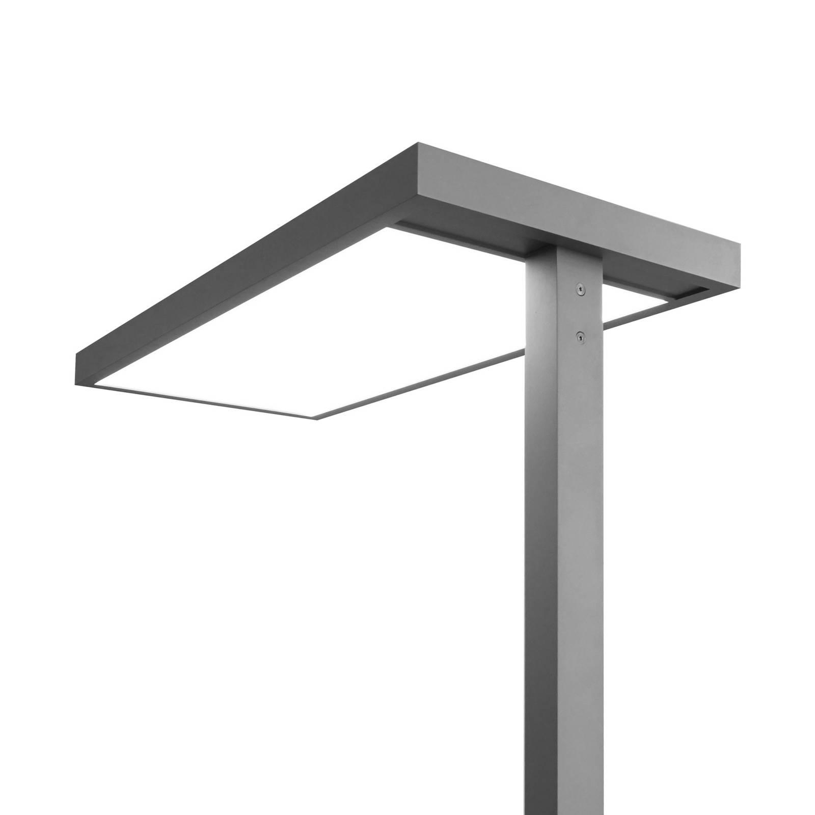 LED kantoor vloerlamp Somidia dimmer sensor zilver