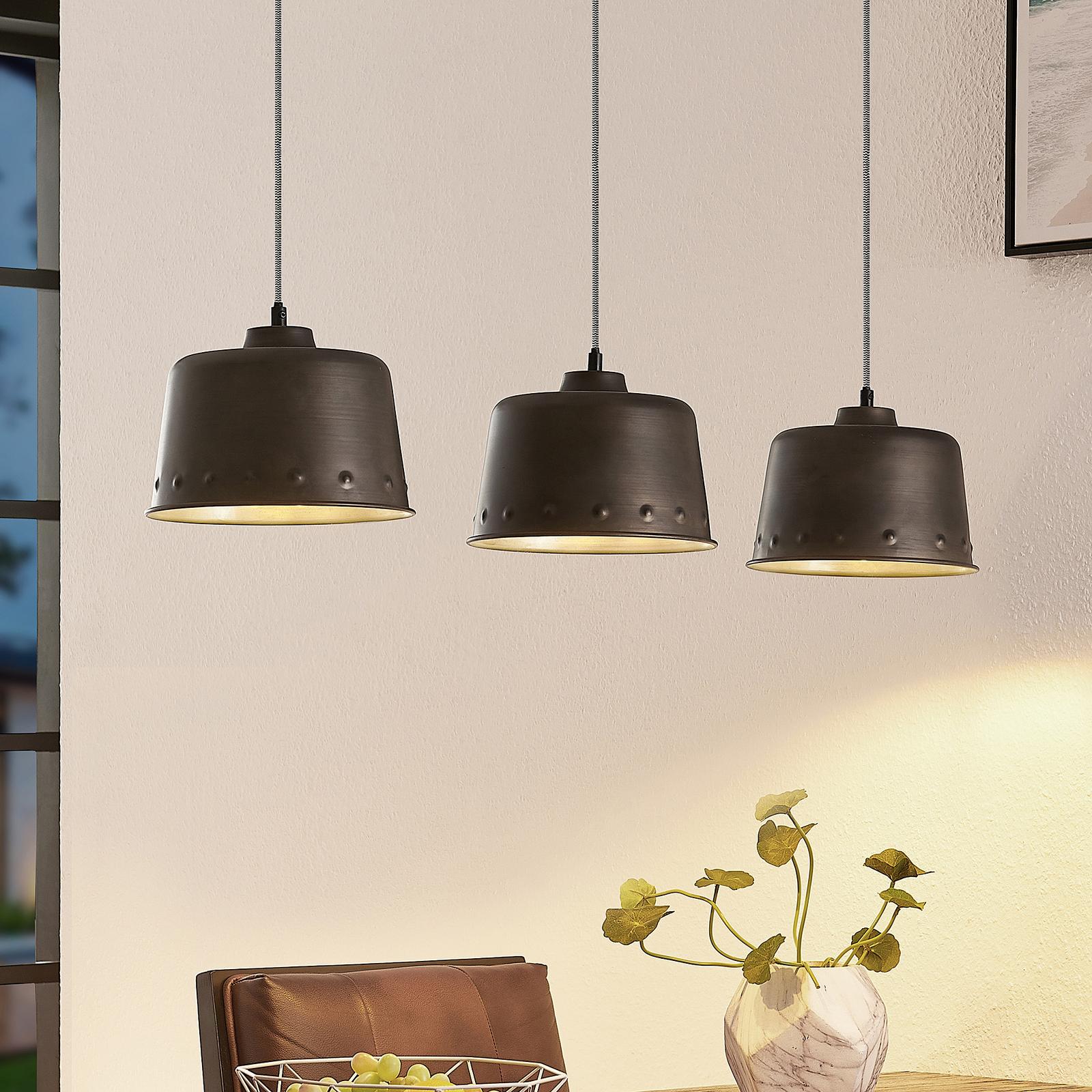 Lindby Rubinjo hængelampe, 3 lyskilder
