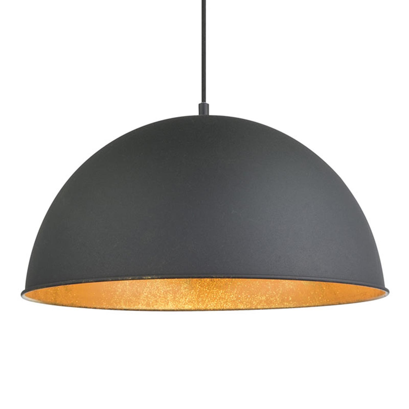 Czarno-złota lampa wisząca Lenn