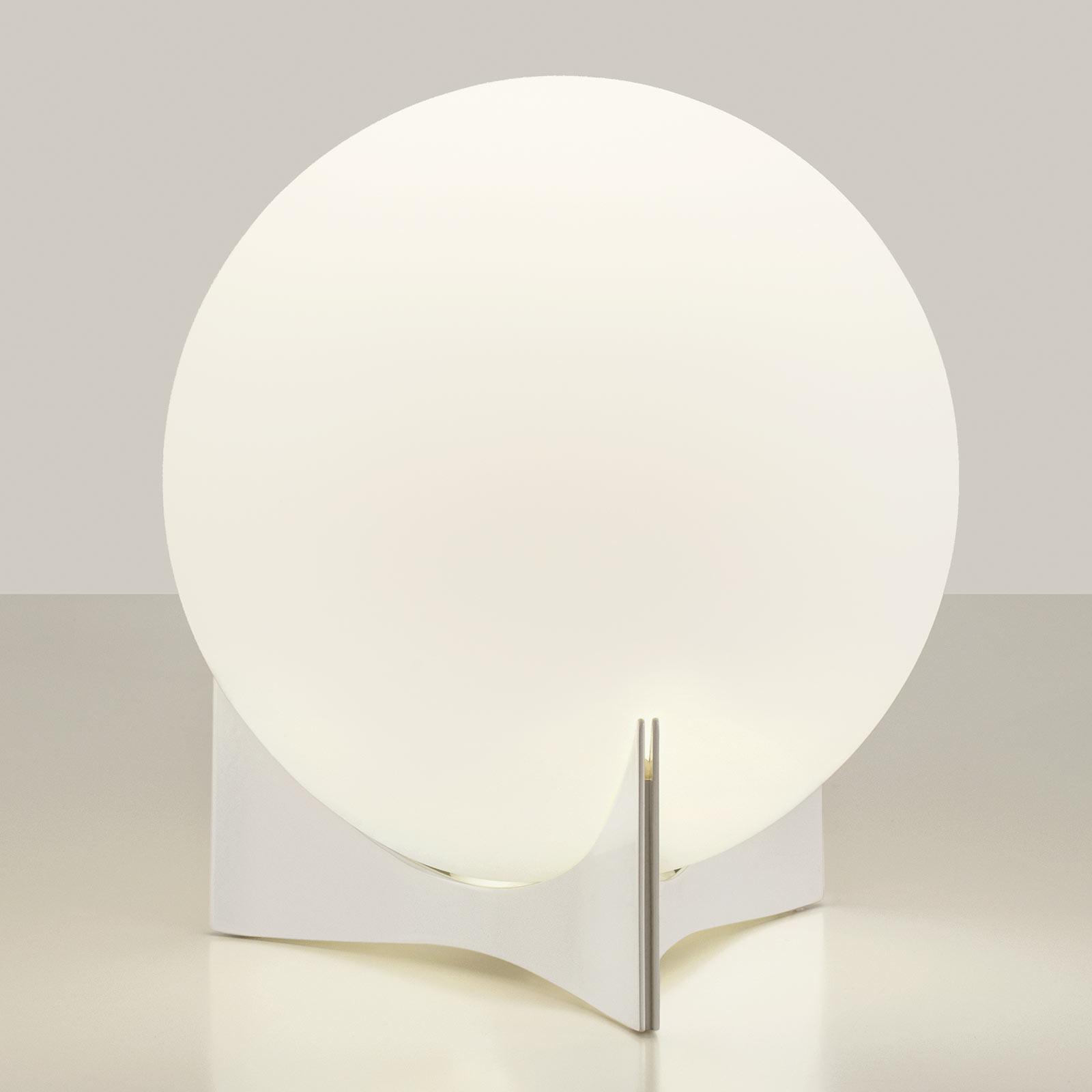 Terzani Oscar bordlampe av glass, hvit