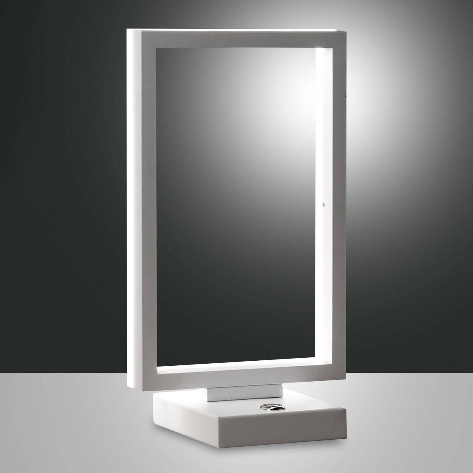LED tafellamp Bard, dimbaar, in wit