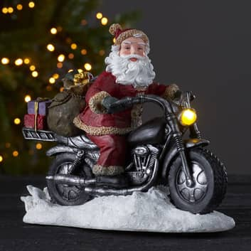 LED-Dekoleuchte Merryville, Santa auf Motorrad