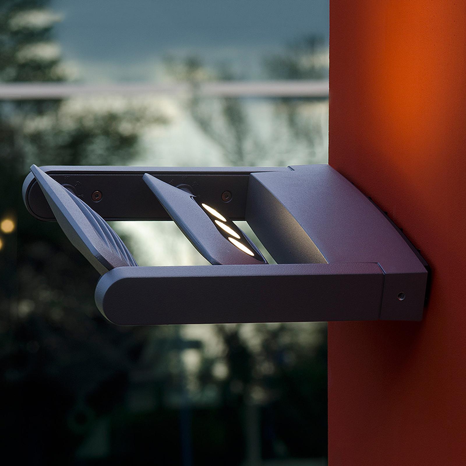 LED-utomhusväggspot KEIRAN DUO med 6 POWER-LED