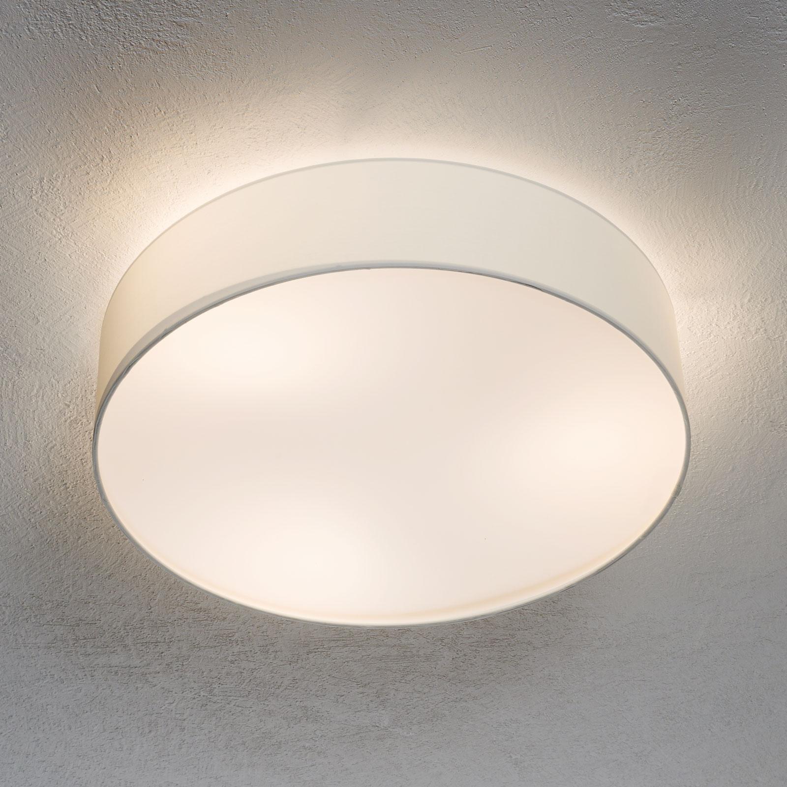 Lámpara de techo Pasteri de textil, blanca, 57 cm
