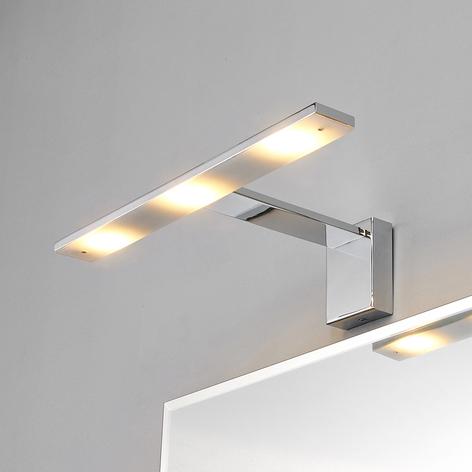 Förkromad, vacker LED-spegellampa Lorik