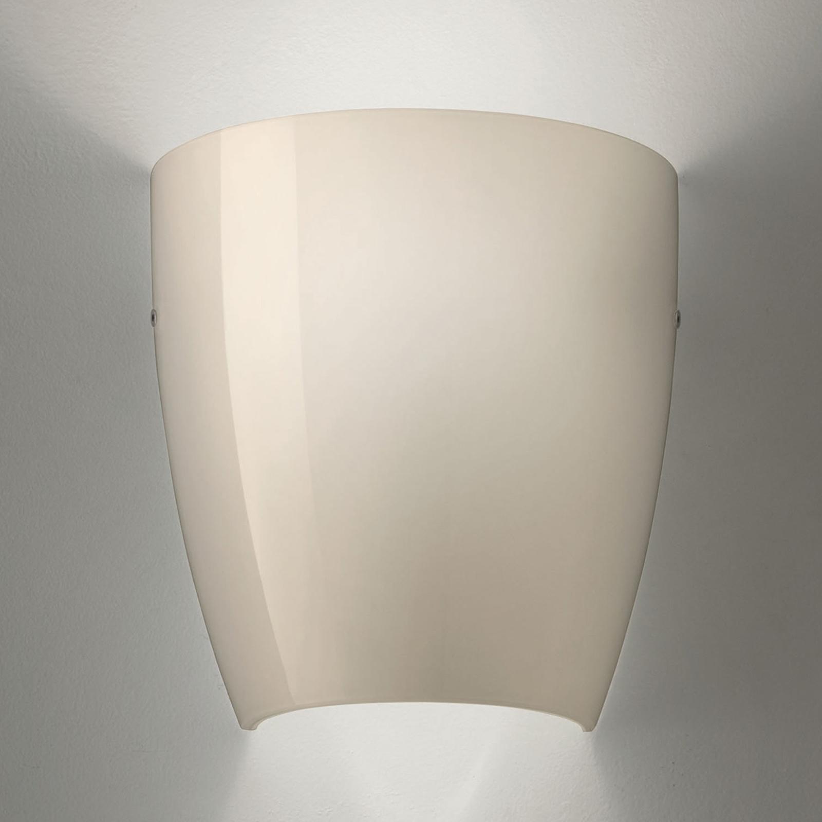Wandlamp Dafne van glas glossy grijs