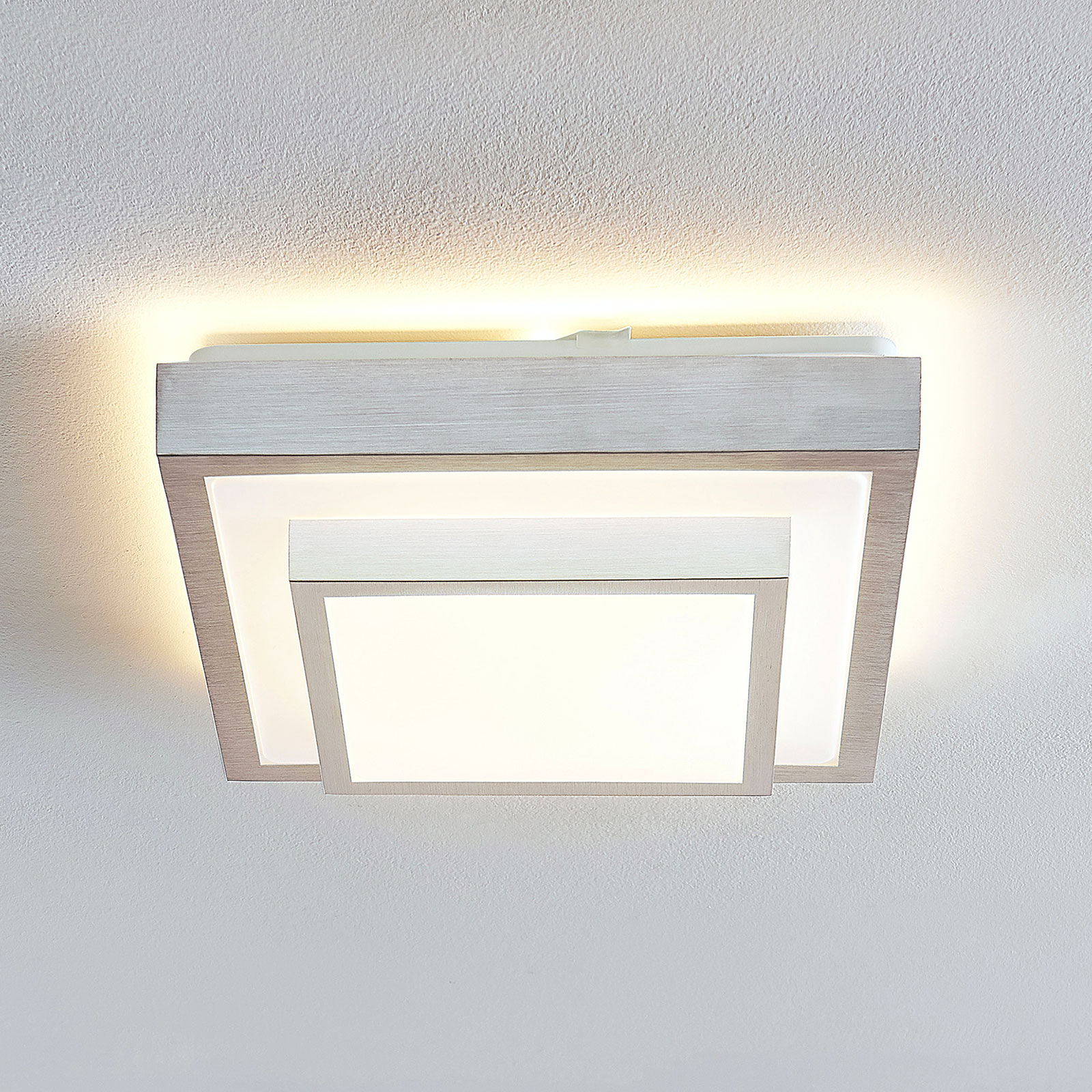 Lindby Mirco LED plafondlamp, hoekig, 32 cm