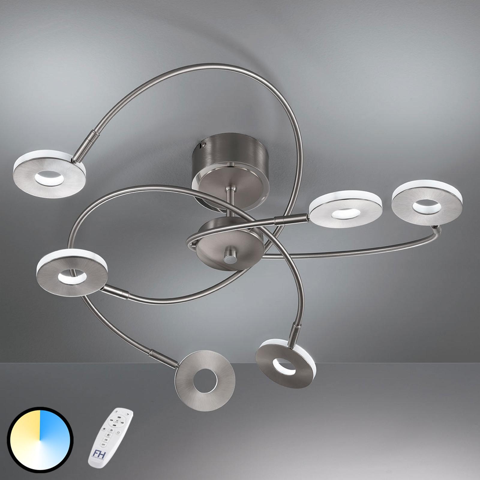 Lampa sufitowa Dent 6-punktowa z pilotem
