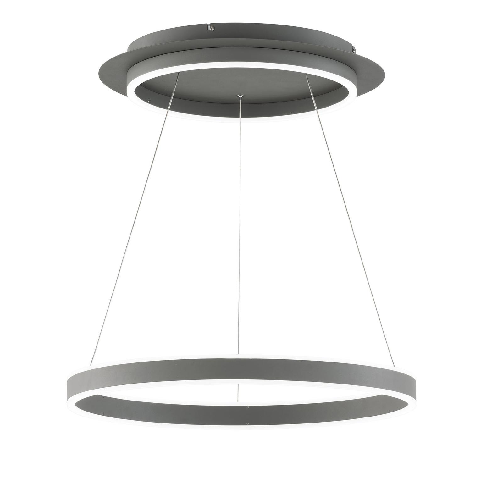 LED-Hängeleuchte Kemi, mit Fernbedienung, rund