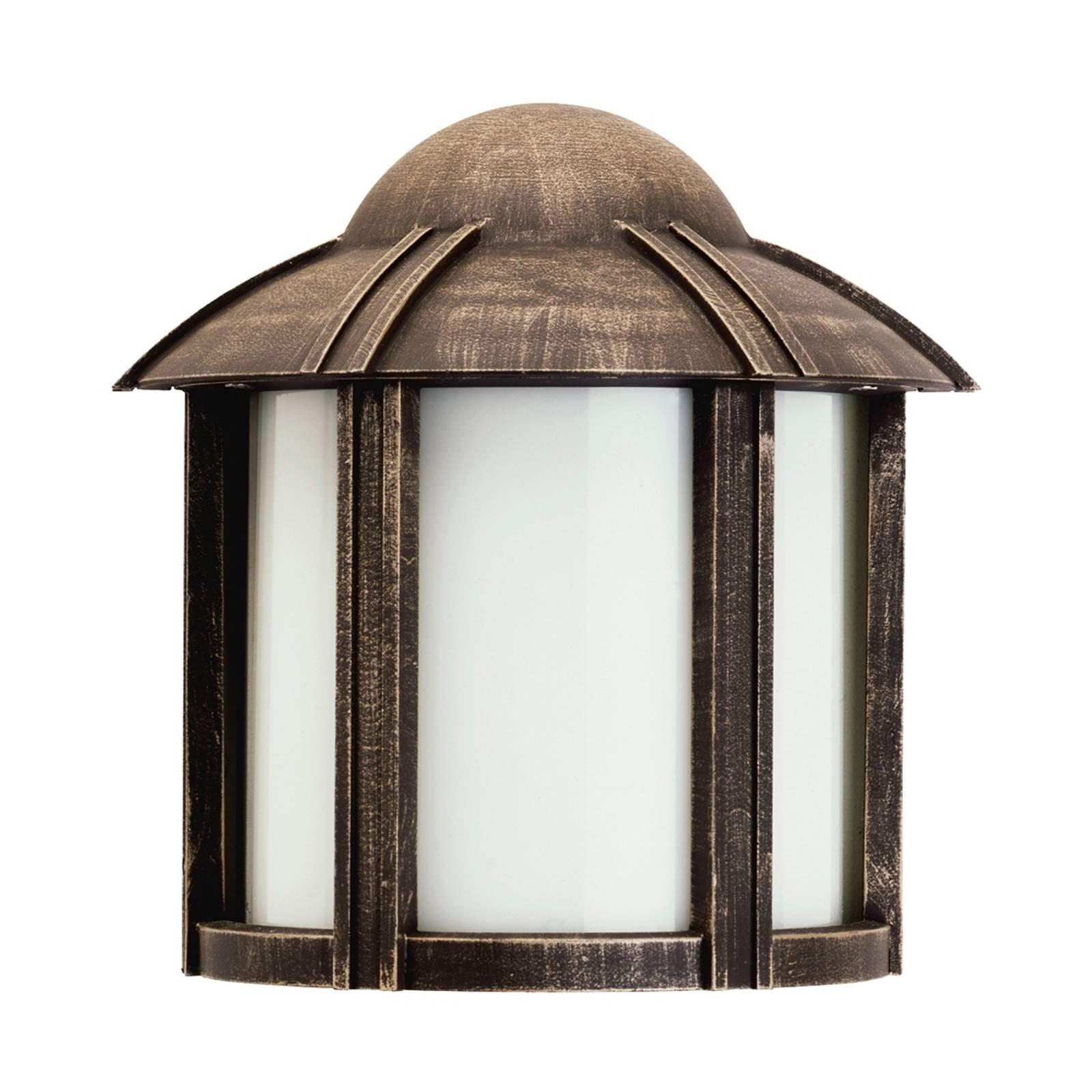 Zewnętrzna lampa ścienna Affra brązowa
