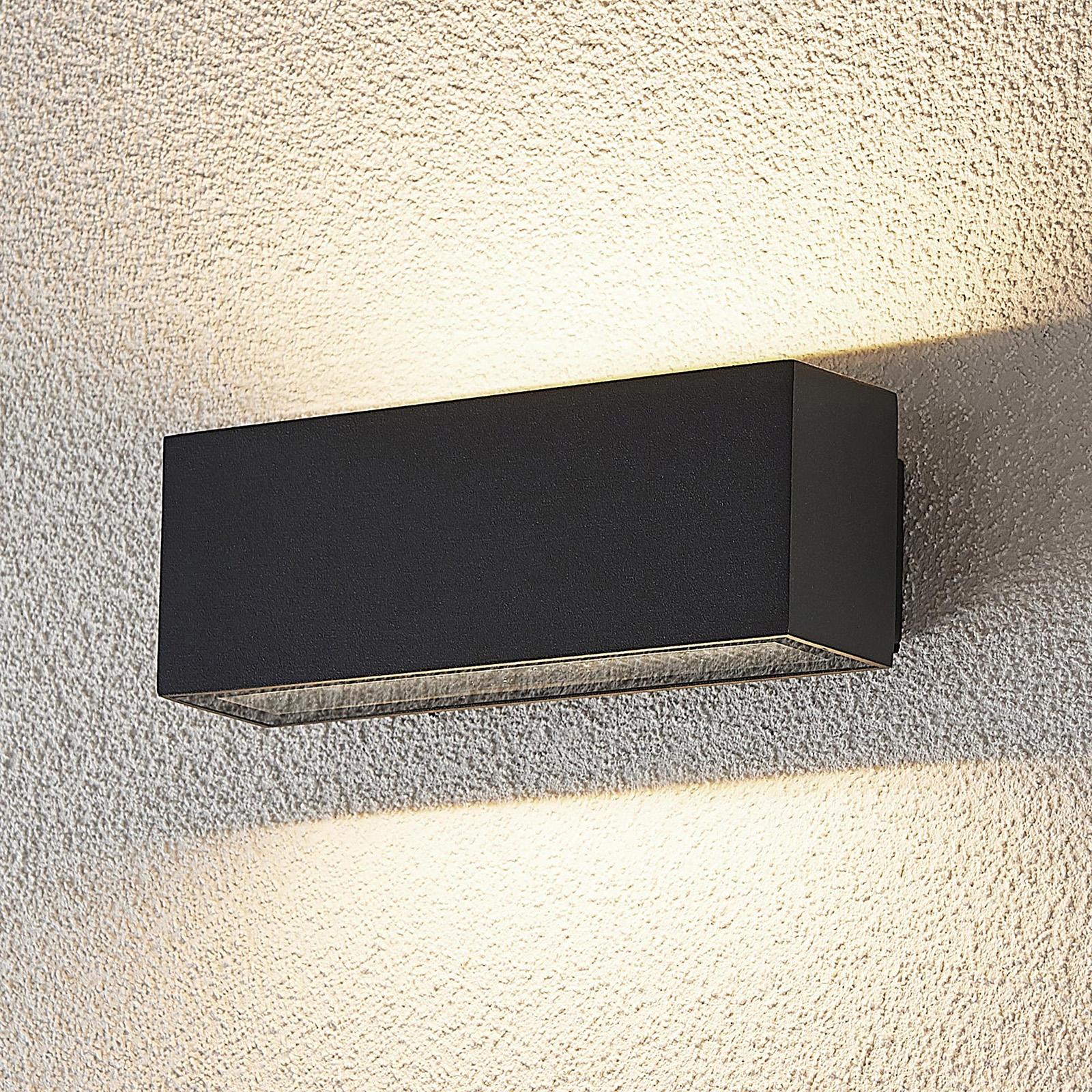 LED-Außenwandleuchte Oliver, dunkelgrau, 18 cm
