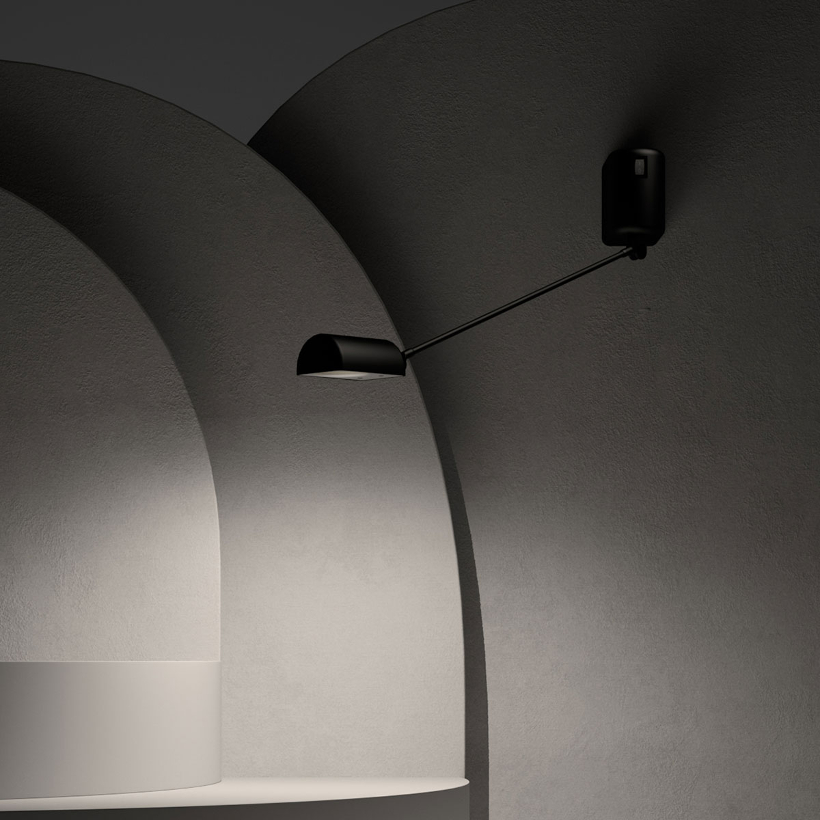 Lumina Daphine LED-Wandleuchte 3.000K 35cm schwarz