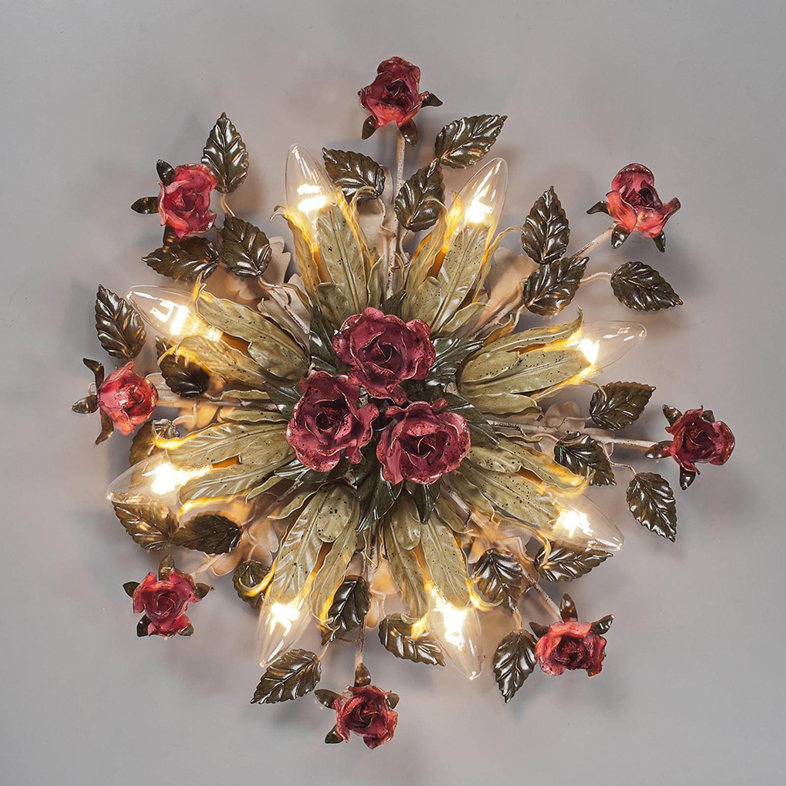 8-lichts Florentijns plafondlamp Fiama