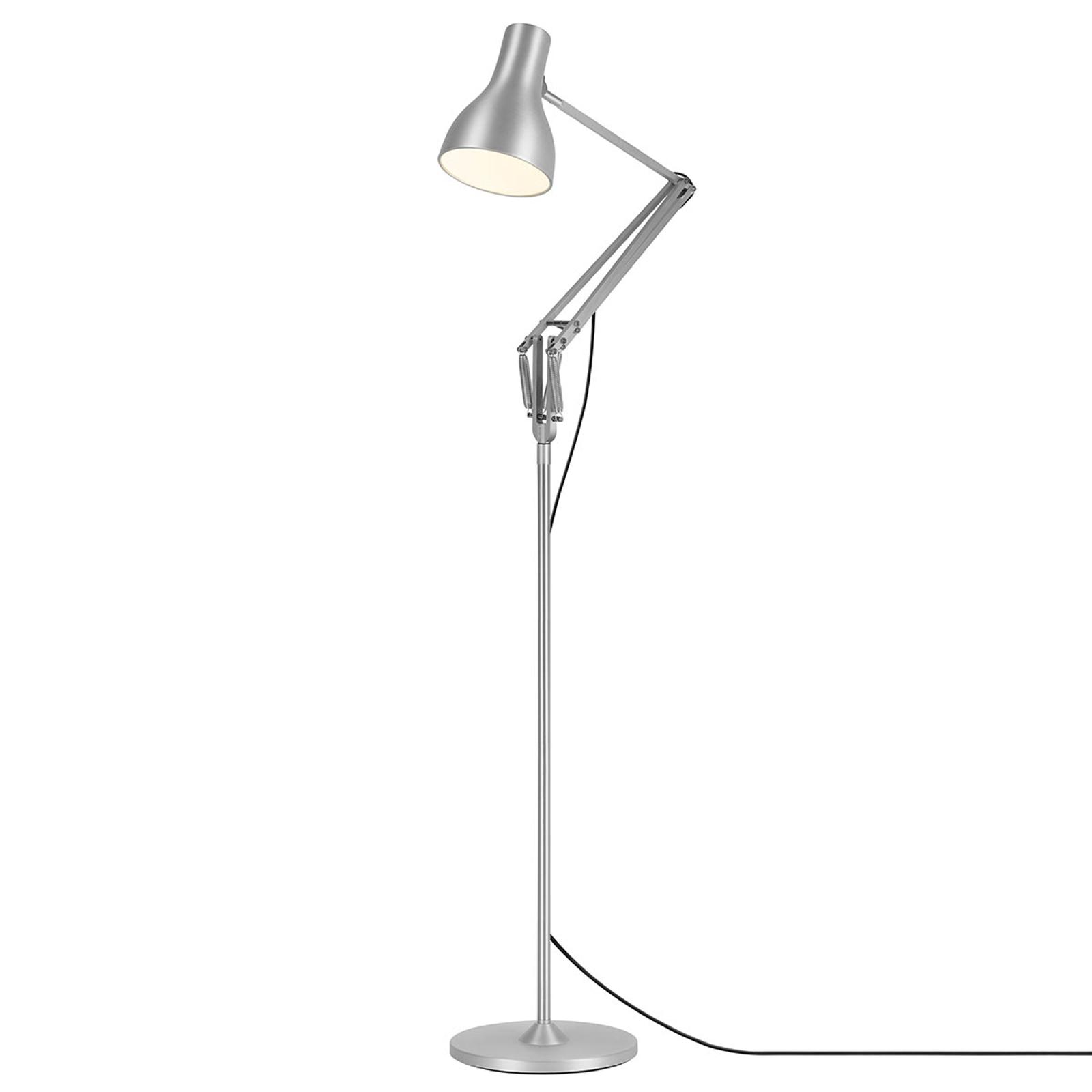 Anglepoise Type 75 lampa stojąca srebrna
