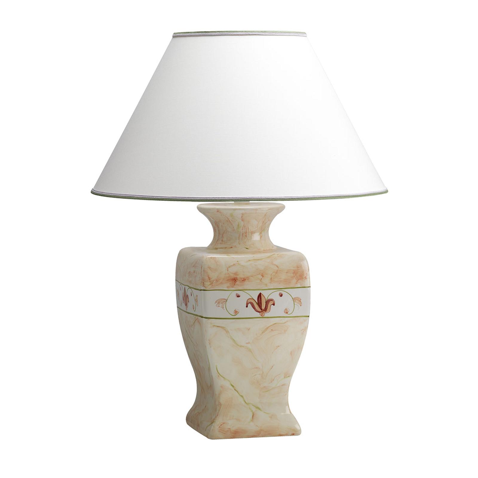 Keramieken hoge tafellamp Marmorino - hoogte 70 cm