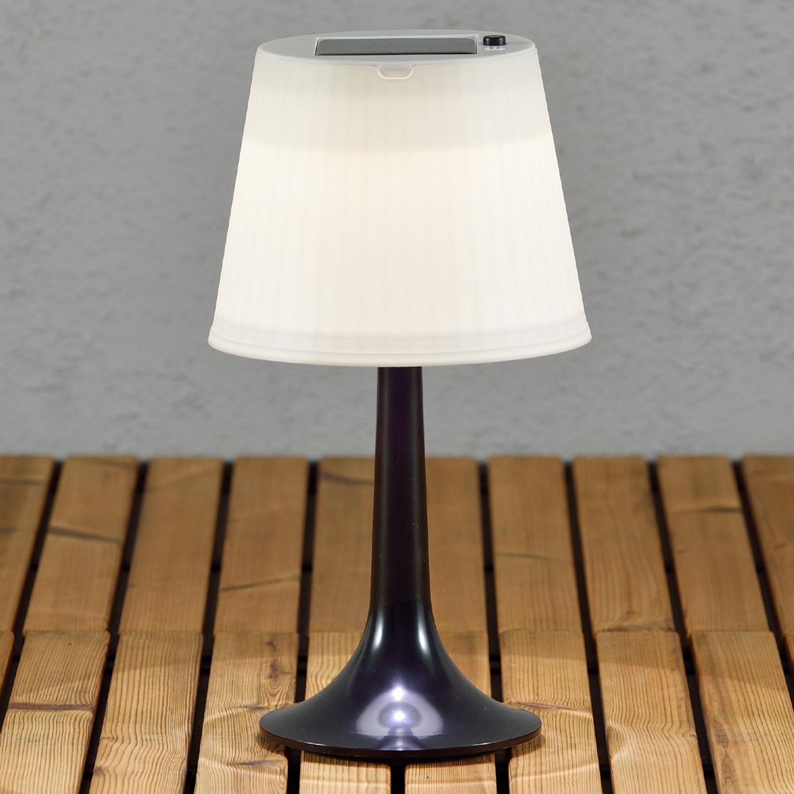 Svart solcelledrevet bordlampe Assisi Sitra m. LED