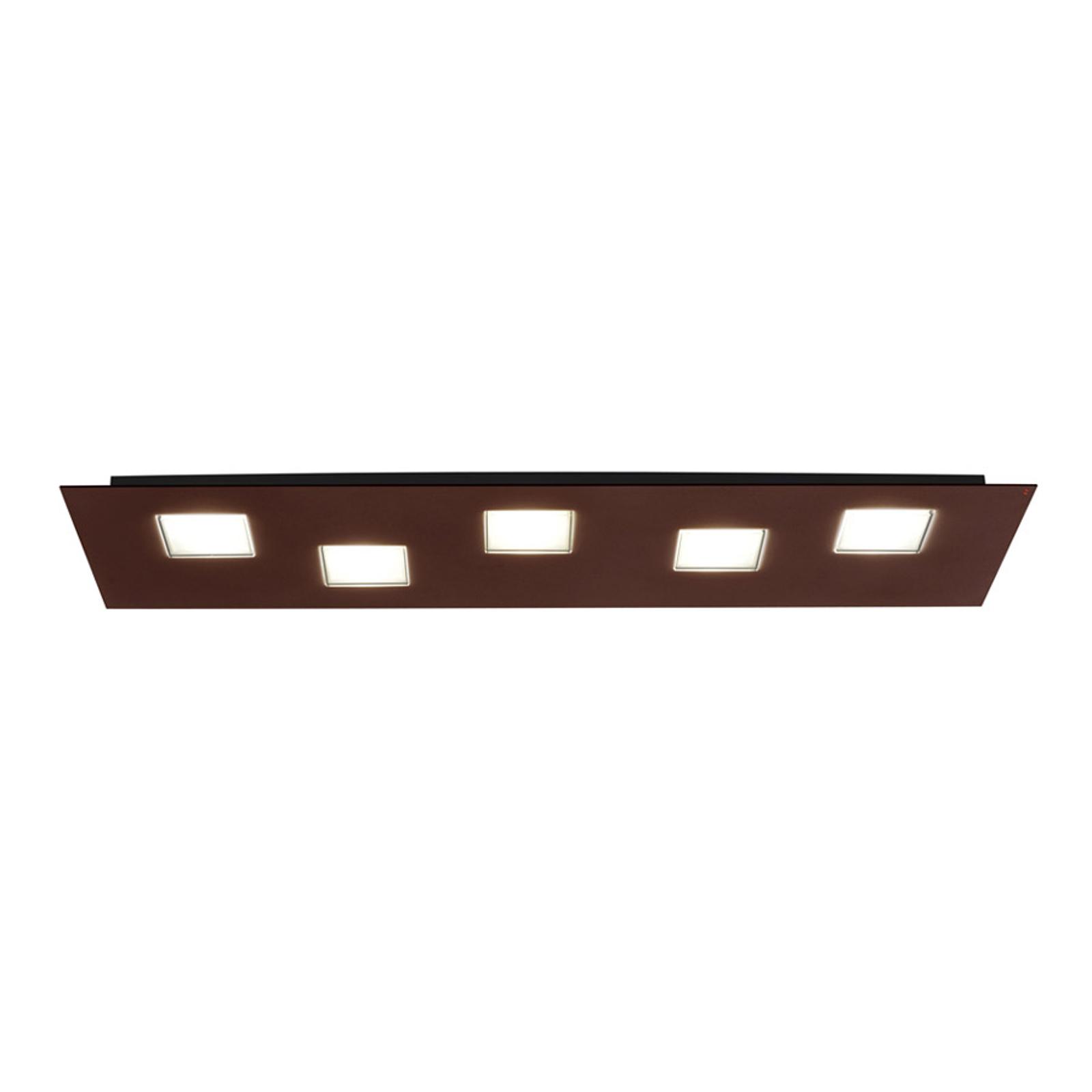 Brown Quarter LED ceiling lamp, 70cm long_3503242_1