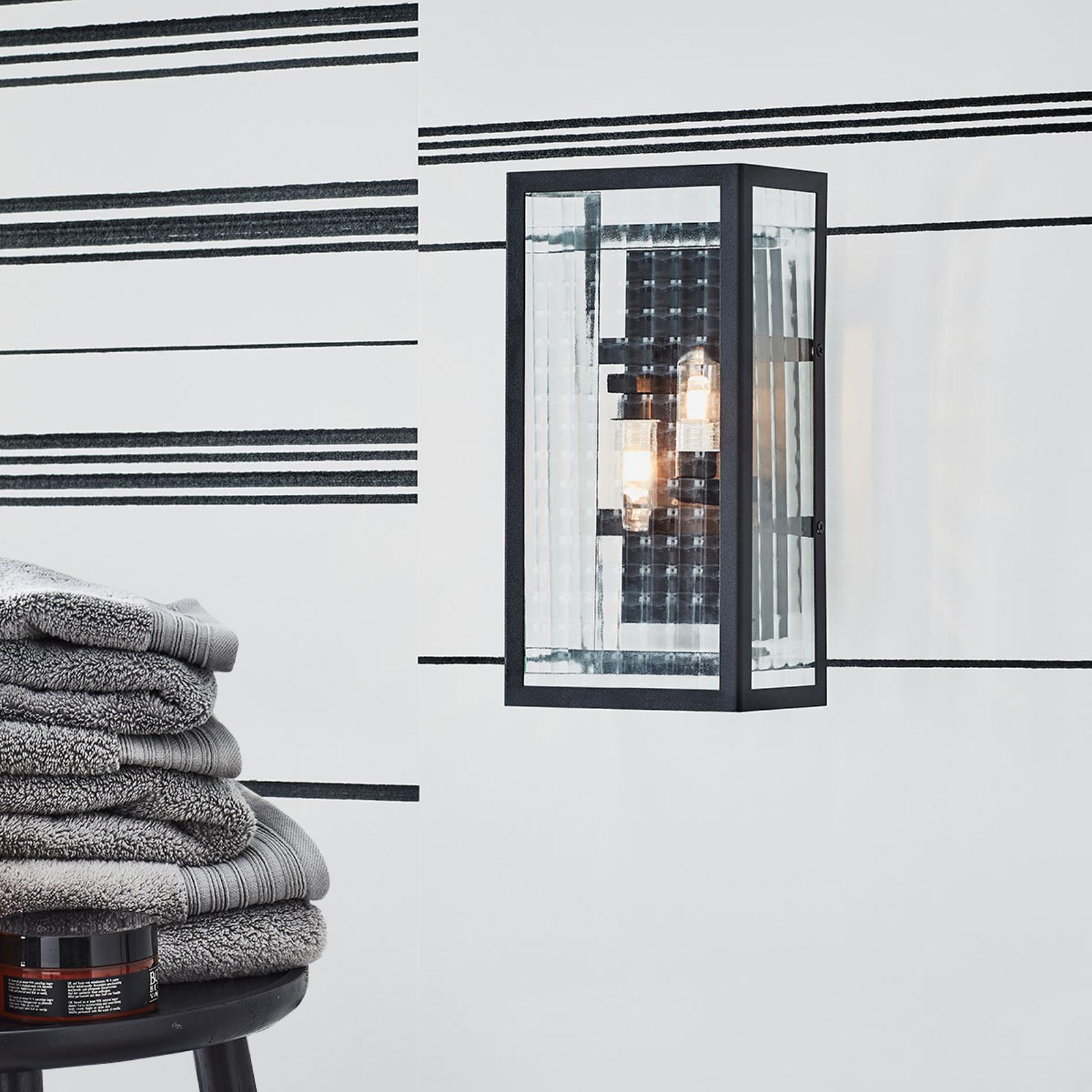 Badrumsvägglampa Fulham IP44, svart