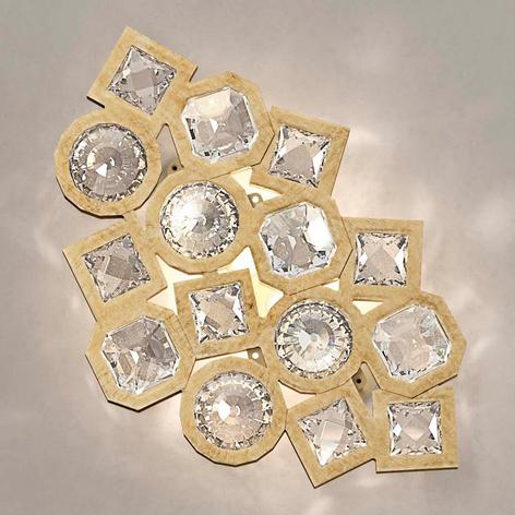 Funkelnde Kristall-LED-Wandleuchte Stardust golden