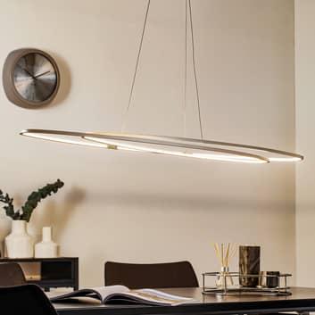 Oval LED-pendellampe Flair, aluminium