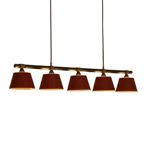 Menzel Living Table sospensione 5 luci luce rosso