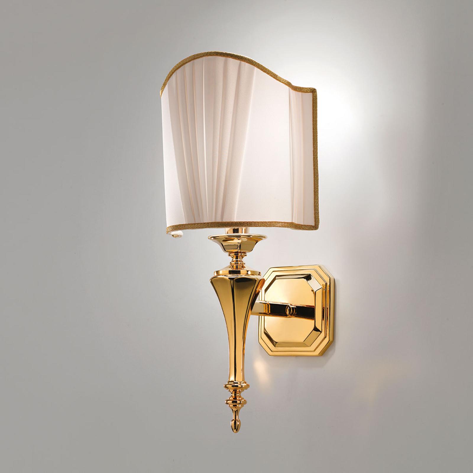 Belle Epoque - szlachetna złota lampa ścienna
