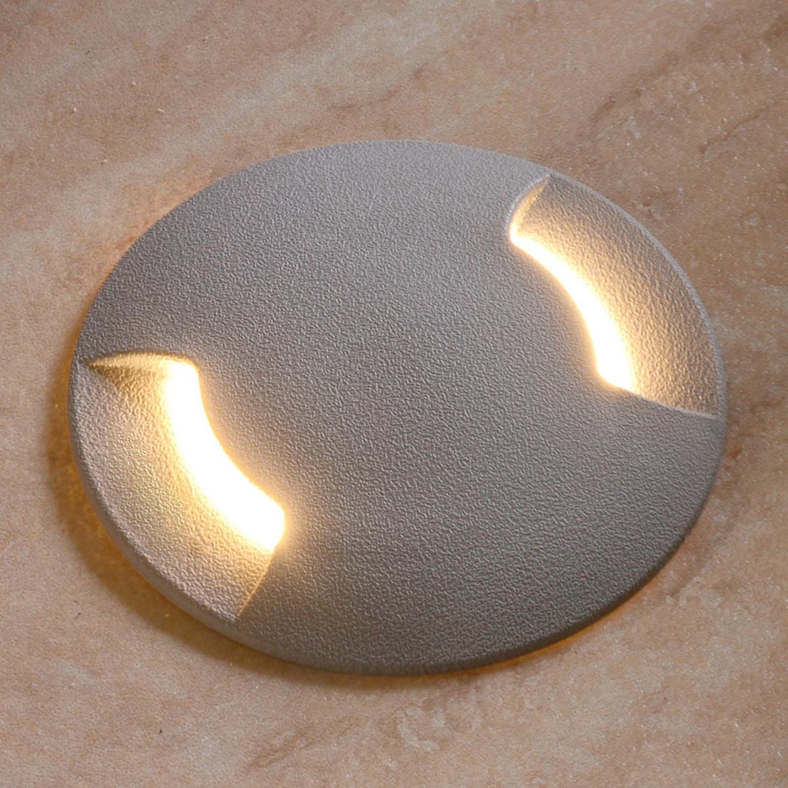 Zapustené podlahové LED svetlo Ceci 120-2 L sivé