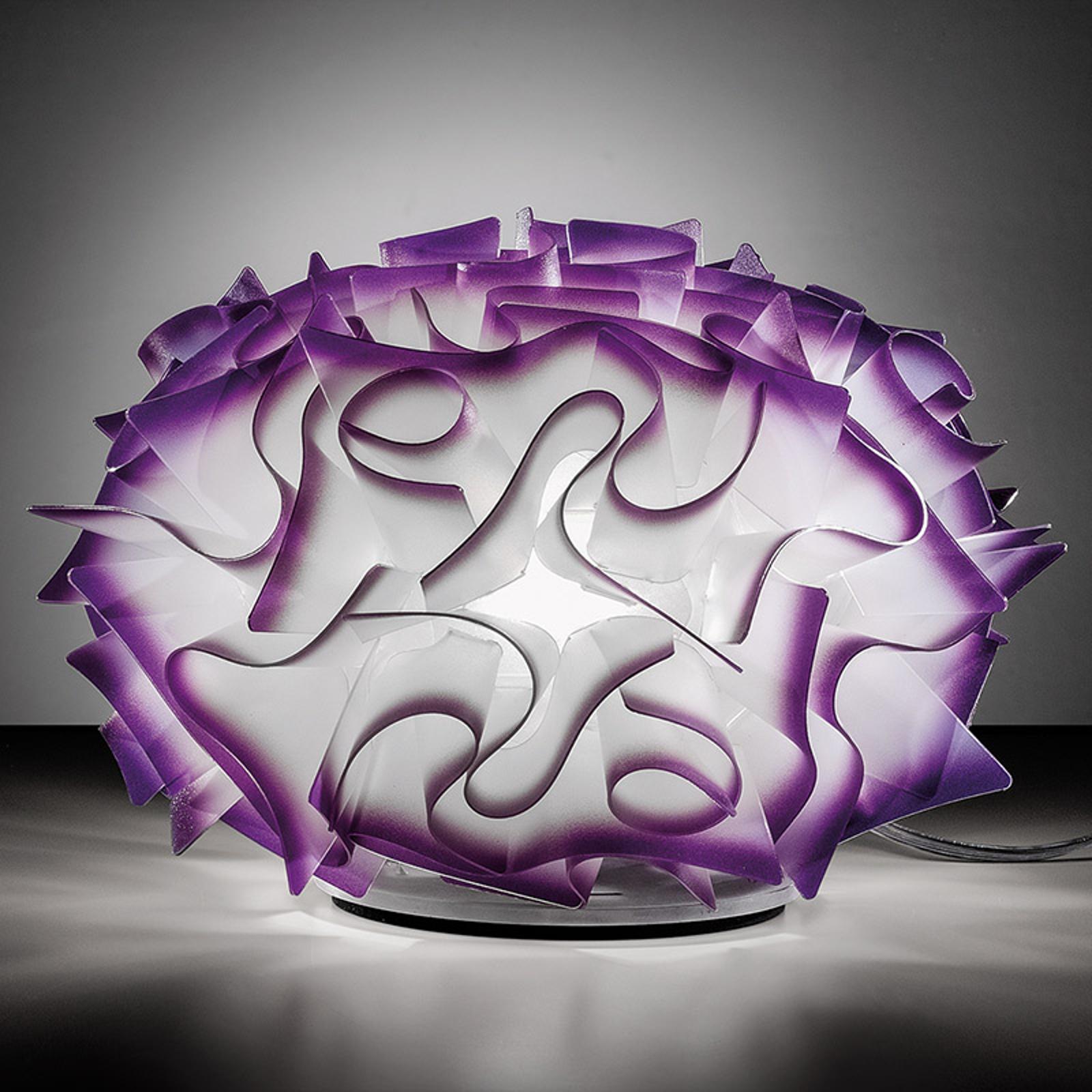 Slamp Veli – design-bordlampe, Ø 32 cm, plomme