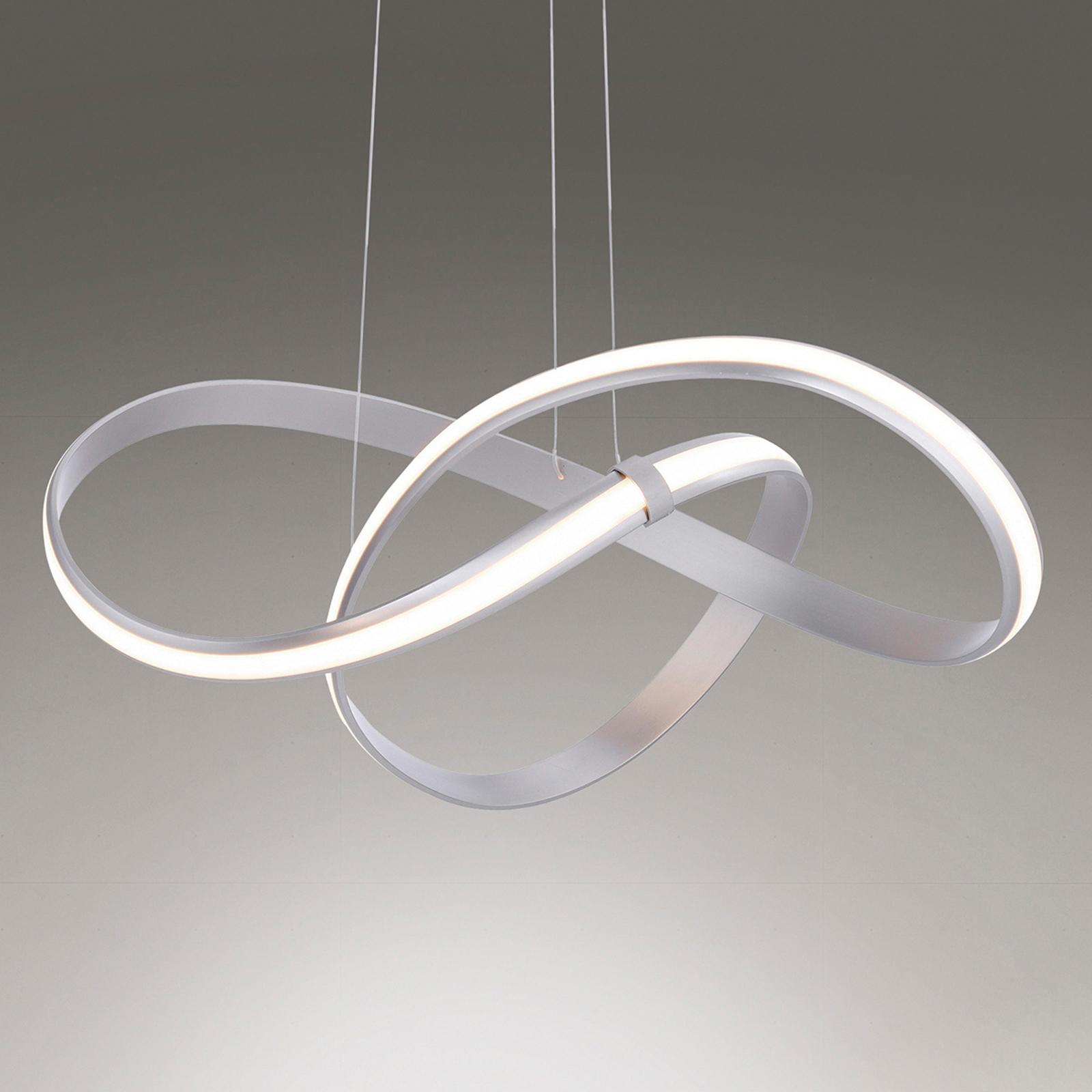Suspension LED Melinda, 30W, dimmable, gris acier