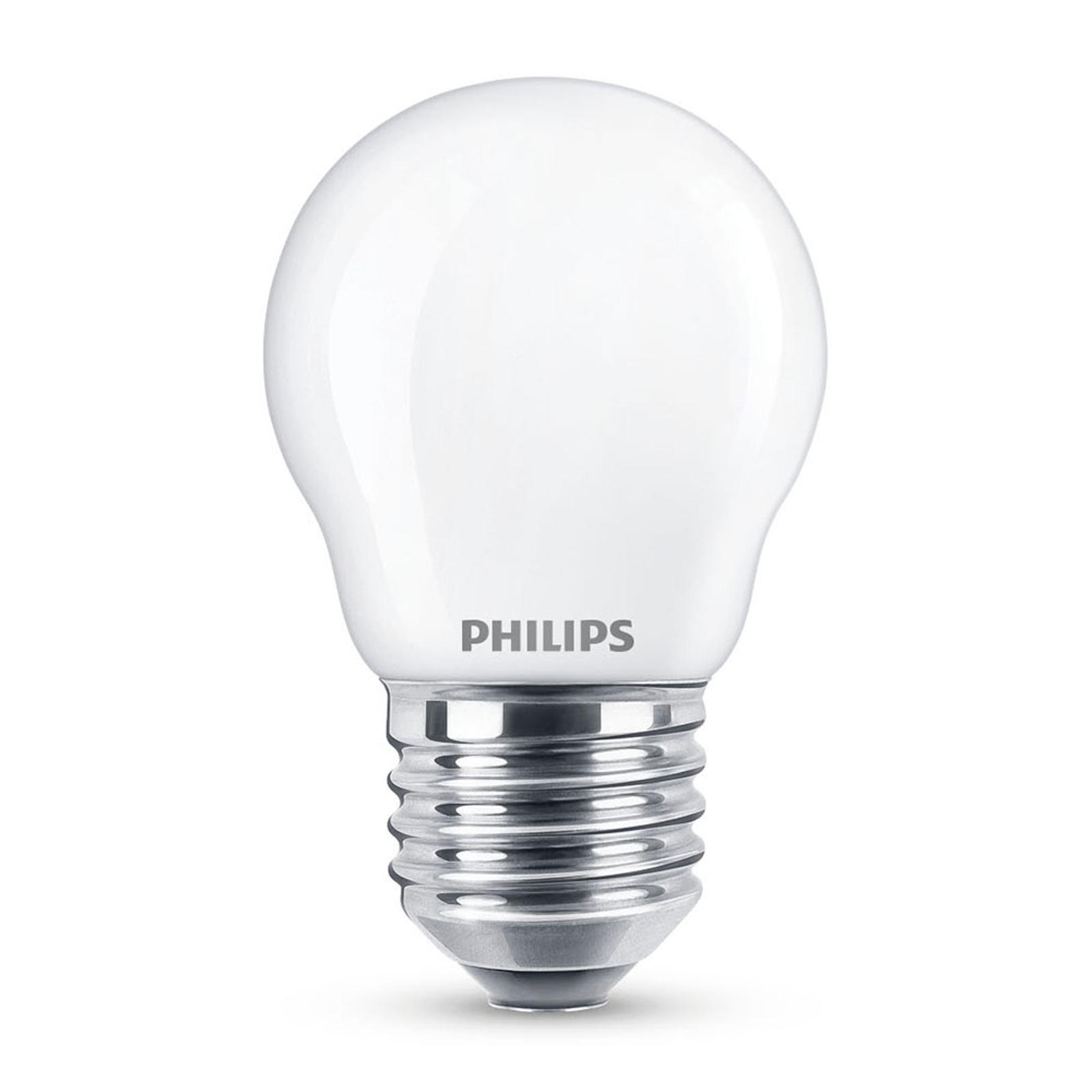 Philips LED Classic WarmGlow E27 P45 3,4W matt