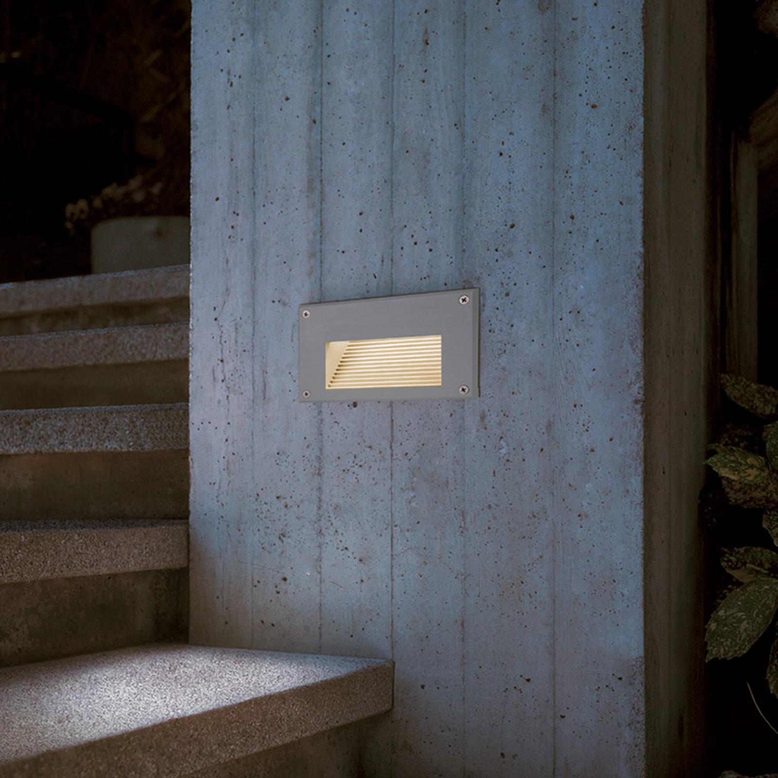 Varmhvit Brick LED Downunder innfelt vegglampe