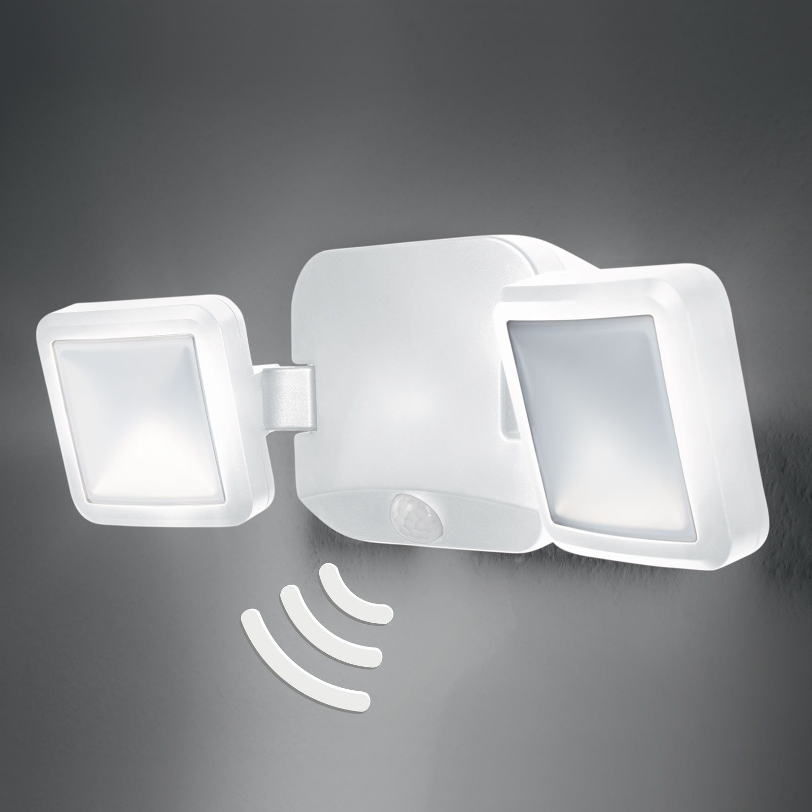 LEDVANCE Battery Spotlight Außenwand 2fl weiß