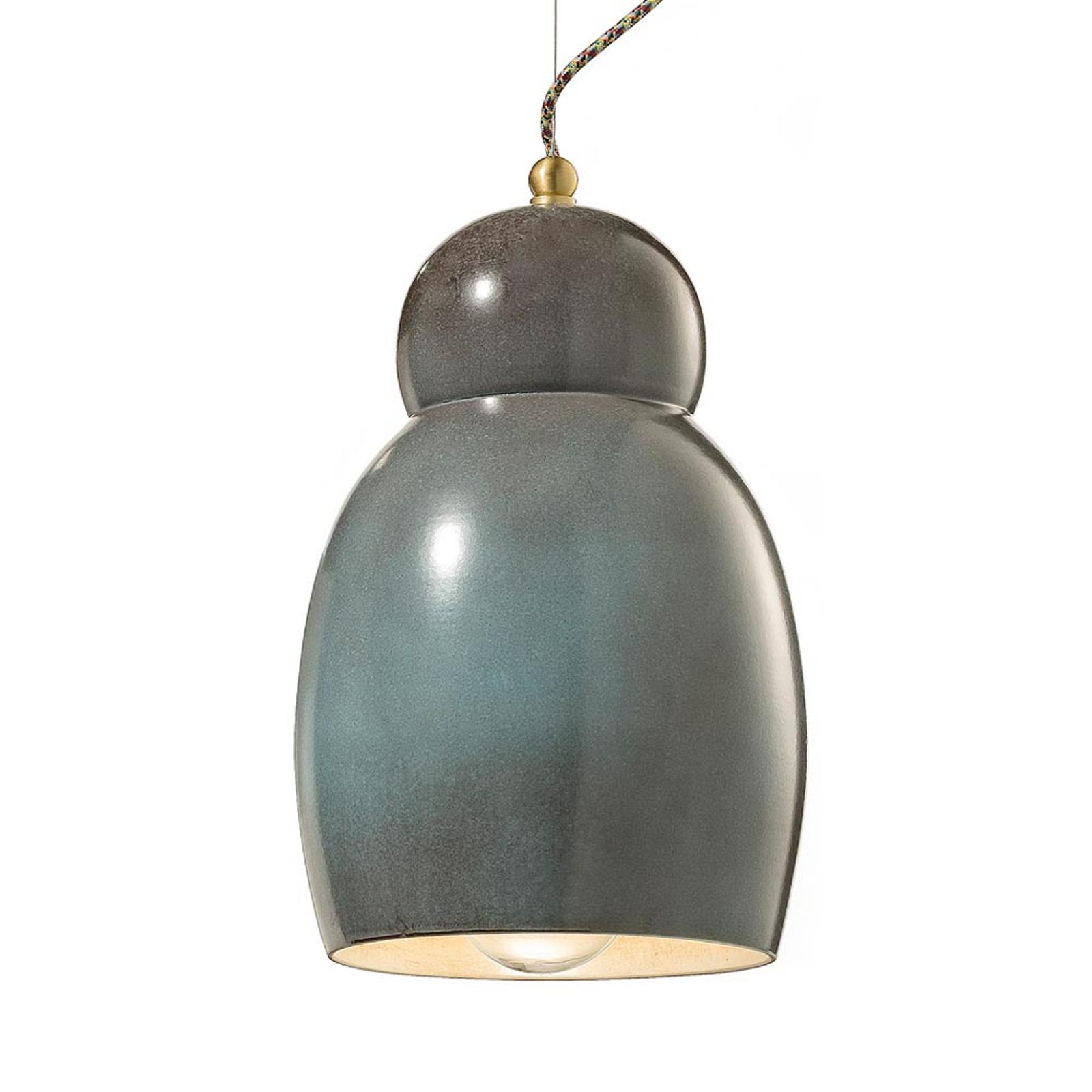 Pękata ceramiczna lampa wisząca Greta