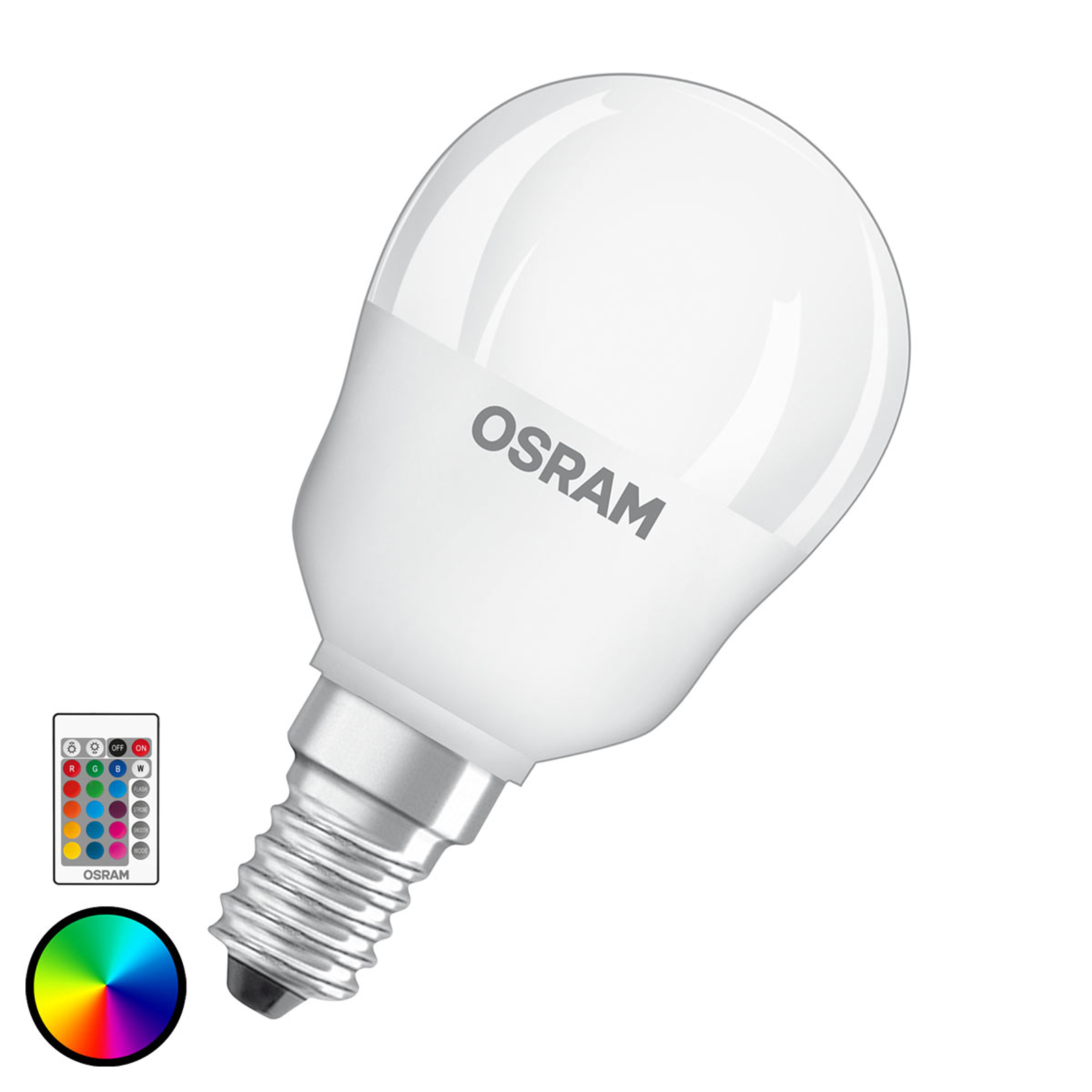 OSRAM ampoule LED E14 4,5W Star+ goutte remote mat