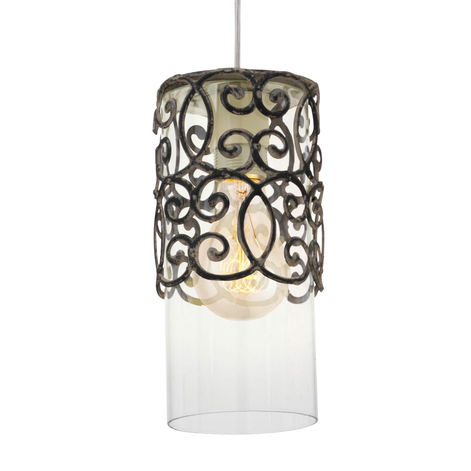 Hanglamp vintage bruin