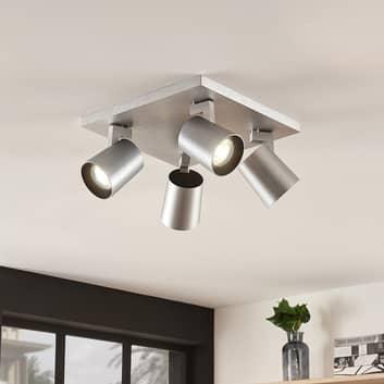 Takspotlight Iavo, justerbar, aluminium, 4 lampor