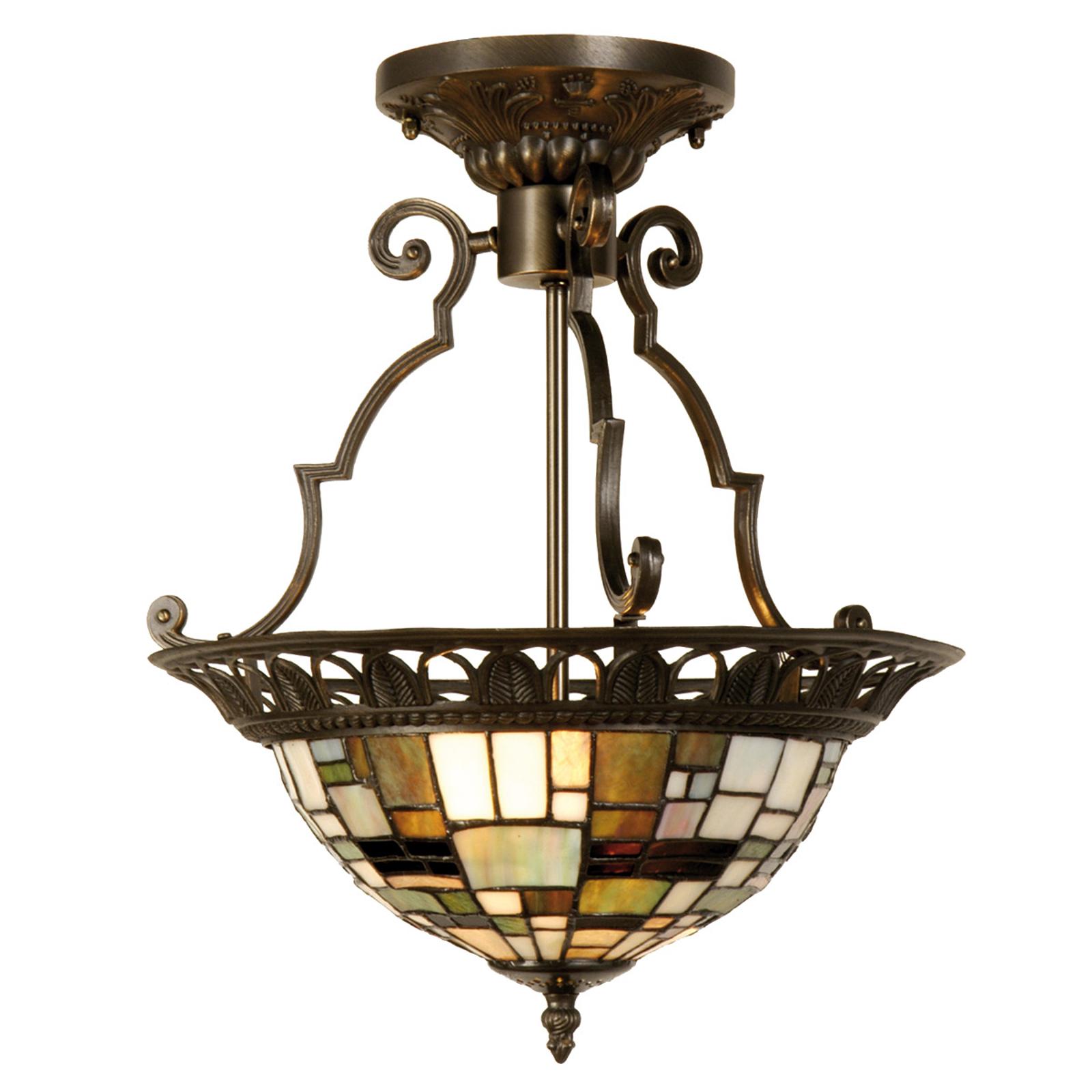 Villads - taklampe i Tiffany-stil