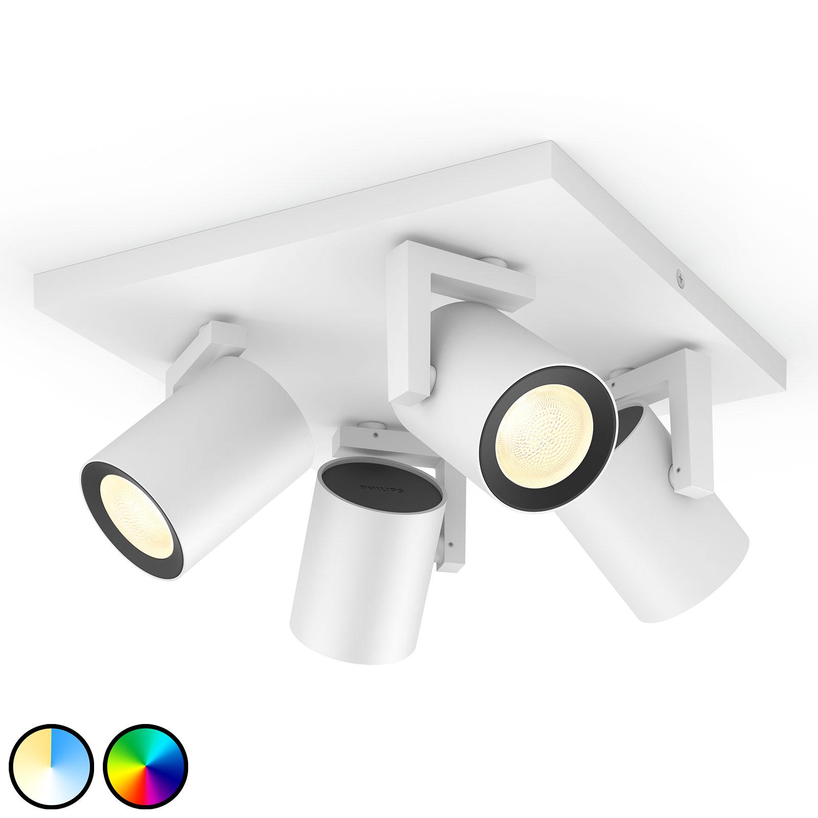Philips Hue Argenta LED-spot fire lyskilder hvit