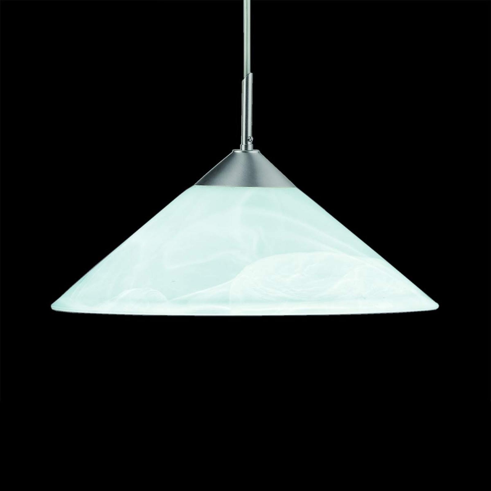 Gemarmerde hanglamp Saturn, 40 cm mat nikkel