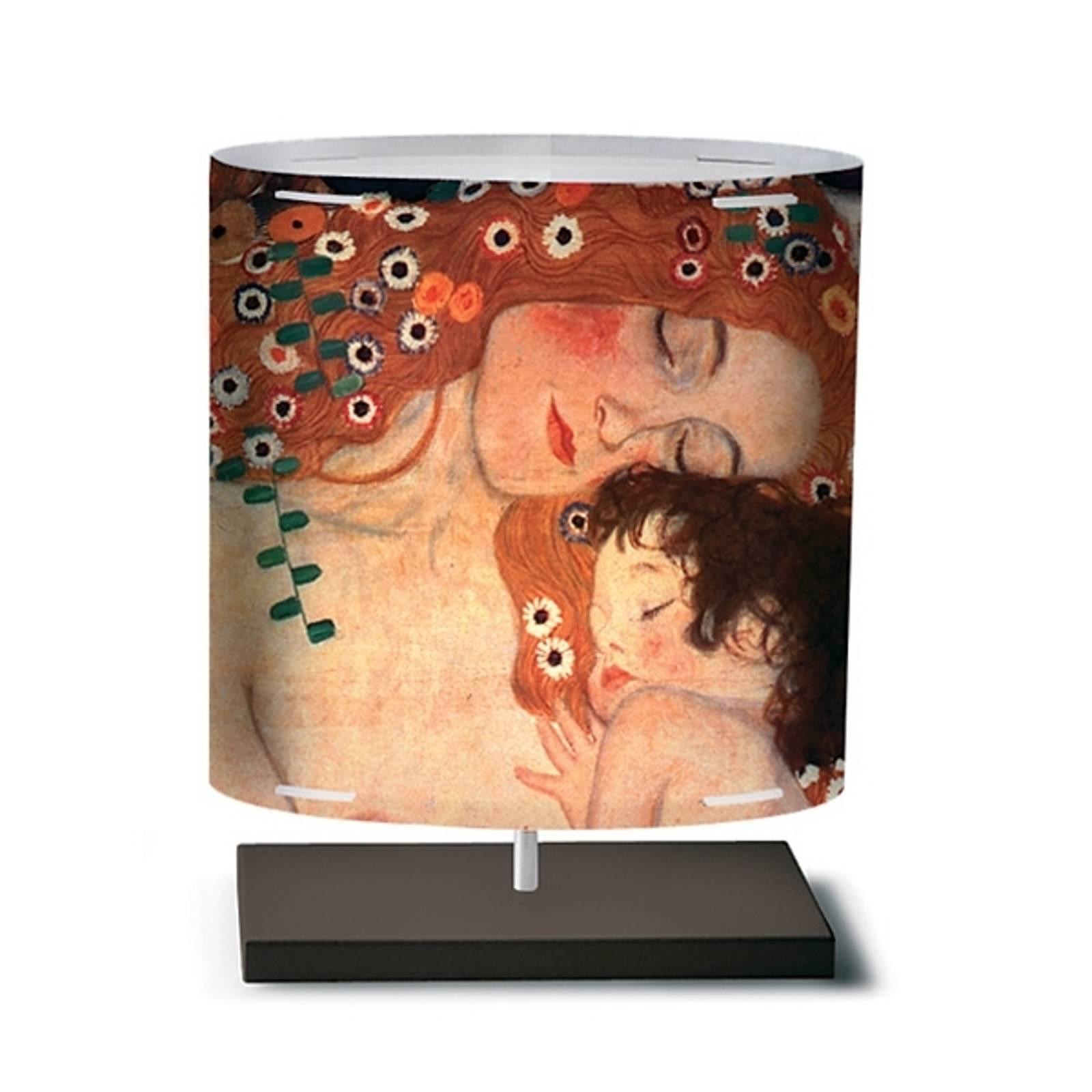 Klimt II - Tischleuchte mit Kunstmotiv